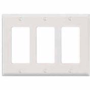 Leviton 80411-NW 3-Gang Decora/GFCI Device Decora, White