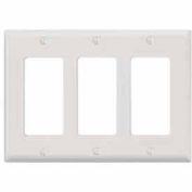 Leviton 80411-W 3-Gang Decora/GFCI Device Decora, Standard, Thermoset, White