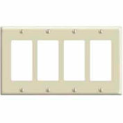 Leviton 80412-T 4-Gang Decora/GFCI Device Decora, Standard, Light Almond