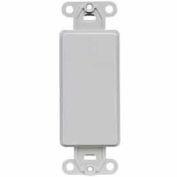 Leviton 80414-GY QuickPort Decora Multimedia Blank Insert, Gray