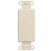 Leviton 80414-T QuickPort Decora Multimedia Blank Insert, Light Almond