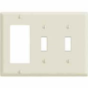 Leviton 80421-T 3-Gang, 2-Toggle, 1-Decora, Device, Light Almond