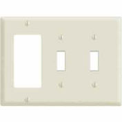 Leviton 80421 3-Gang 2-Toggle 1-Decora/GFCI Device Combo, Brown