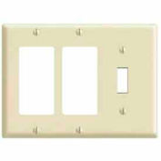 Leviton 80431-T 3-Gang 1-Toggle 2-Decora/GFCI Device Combo, Standard, Lt Almond
