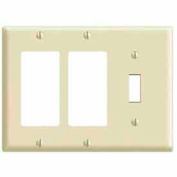 Leviton 80431 3-Gang 1-Toggle 2-Decora/GFCI Device Combo, Standard, Brown