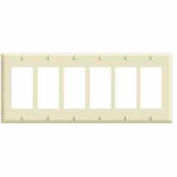 Leviton 80436 6-Gang Decora/Gfci Device Decora, Standard, Thermoset, Brown - Min Qty 15
