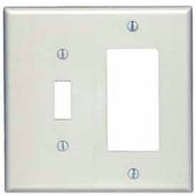 Leviton 80605-A 2-Gang 1-Toggle 1-Decora/GFCI Device Combo, Almond