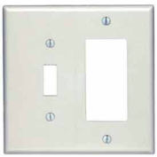 Leviton 80605-T 2-Gang 1-Toggle 1-Decora/GFCI Device Combo, Light Almond