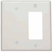 Leviton 80608-I 2-Gang 1-Blank 1-Decora/GFCI Device Combo, Ivory