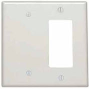 Leviton 80608-T 2-Gang 1-Blank 1-Decora/GFCI Device Combo, Light Almond