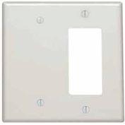 Leviton 80608-W 2-Gang 1-Blank 1-Decora/GFCI Device Combo, White