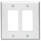 Leviton 80609-T 2-Gang Decora/GFCI Device Decora, Light Almond