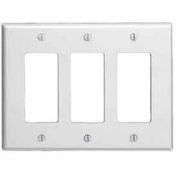 Leviton 80611-W 3-Gang Decora/GFCI Device Decora, White