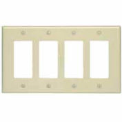 Leviton 80612 4-Gang Decora/GFCI Device Decora, Midway, Thermoset, Mahogany
