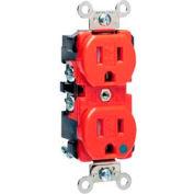 Leviton 8200-Sgr 15a, 125v, Duplex Receptacle, Tamper-Resistant, Red - Min Qty 9