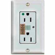Leviton 8280-W Decora Dplx Surge Prot Recpt, Indicator Light & Alarm, 15a, White - Min Qty 4