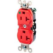 Leviton 8300-Hlr 20a, 125v, Duplex Receptacle, Red - Min Qty 8