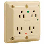 Leviton 8480-Igi 4-In-1 Receptacle, Straight Blade, Hospital Grade, Ivory - Min Qty 4