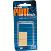 Leviton C0250-I In-Line Phone Cord Coupler, Ivory