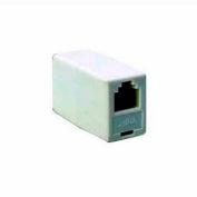 Leviton C0250-W In-Line Phone Cord Coupler, White