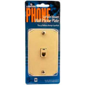 Leviton C0253-I Surface Mount Wall Phone Jack, 6-position, 4-conductor, ivory