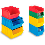 """Schaefer Extra-Large Stacking Bins LF532 - 12""""W x 20""""D x 8""""H - Red, Price Per Each - Pkg Qty 6"""