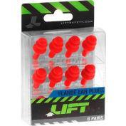 Flange Ear Plugs, 6 Pair Pack - Pkg Qty 4