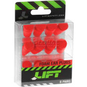 Foam Ear Plugs, 6 Pair Pack - Pkg Qty 6