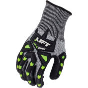Lift Safety Cut Resistant Chem-5 Impact Nitrile Palm Glove, Gray, Small, 1 Pair, GFC-14KS