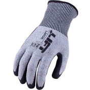 Lift Safety Cut Resistant FiberWire Double Dipped Sandy Nitrile Glove, Large, GFN12KL