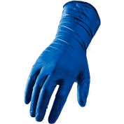 Lift Safety L-Flex Industrial Grade Latex Gloves, Powder-Free, Blue, XL, 50 Gloves/Box