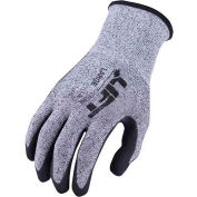 Lift Safety Cut Resistant Staryarn Double Dipped Sandy Nitrile Glove, Large, GSN-12KL