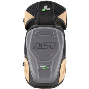 Lift Safety KAN-15K, Apex Gel Knee Guard, Non Marring, 1 Pair, Black/Brown