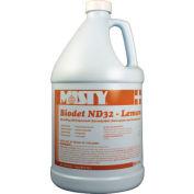 Misty Biodet ND-32 Disinfectant Deodorizer Lemon, Gallon Bottle 4/Case - AEPR12204