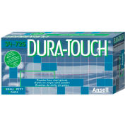 Ansell Dura-Touch 34-725 Industrial Grade Vinyl Gloves, 3 Mil, Powder-Free, M, Clear, 100/Box