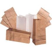 "Squat Paper Bag, 20# 8-1/4""L x 5-15/16""W x 5-15/16""H 500 Pack"