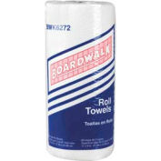 "Boardwalk 2-Ply Perforated Paper Towel Rolls 9"" x 11"", White 85 Sheets/Roll 30/Case - BWK6272"