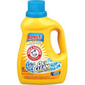 Arm & Hammer OxiClean Concentrated Laundry Detergent Liquid, 62 oz. Bottle, 6 Bottles - 3320000107