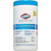 "Clorox® Healthcare Bleach Germicidal Wipes 6-3/4"" X 9"", White 70 Wipes/Can 6/Case - COX35309CT"