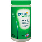 Clorox Green Works Compostable Cleaning Wipes, 62 Wipes/Can, 6 Cans - 30380