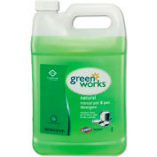 Green Works Manual Pot & Pan Dish Liquid Original, Gallon Bottle 4/Case - COX30388CT