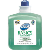 Dial Basics Hypoallergenic Foam Lotion Soap Refill Honeysuckle, 1000mL Bottle 6/Case - DPR06060CT
