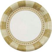 Ultralux Paper Plates, 5 7/8 In, Sage Design, White/Sage, Round, 1000 ct