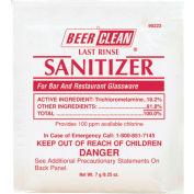 Beer Clean Last Rinse Glass Sanitizer Powder, .25 Oz. Packet 100/Case - DRA90223