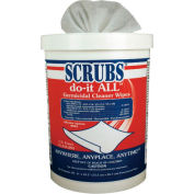 Scrubs Do It All Germicidal Cleaner Wipes, 90 Wipes/Can 6/Case - ITW98028CT