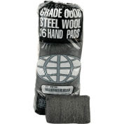 Industrial-Quality Steel Wool Hand Pads #00 Very Fine, 16/Pack 12/Case - GMA117002