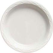 Aristocrat Plastic Plates, 10 1/4 Inches, White, Round, 3 Compartments, 500 Ct