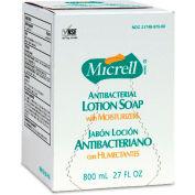 Gojo Micrell Antibacterial Lotion Soap Refill, Amber 800mL 6/Case - GOJ975606
