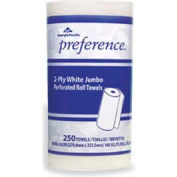 "Georgia Pacific Jumbo Perforated Paper Towels 8-4/5"" x 11"", White 250 Sheets/Roll 12/Case - GEP27700"