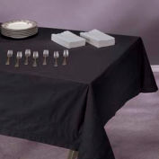 """Tissue/Poly Tablecovers, 54"""" X 108"""", Black, 25 ct"""